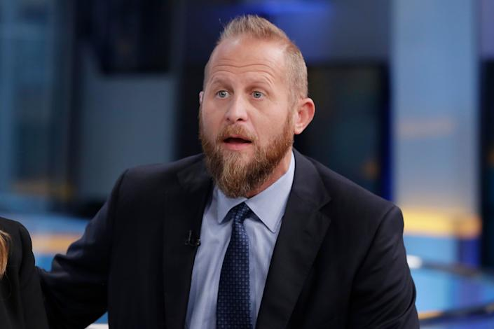 """Brad Parscale, President Trump's campaign manager, appears on """"Fox & Friends,"""" May 24, 2018. (AP Photo/Richard Drew)"""