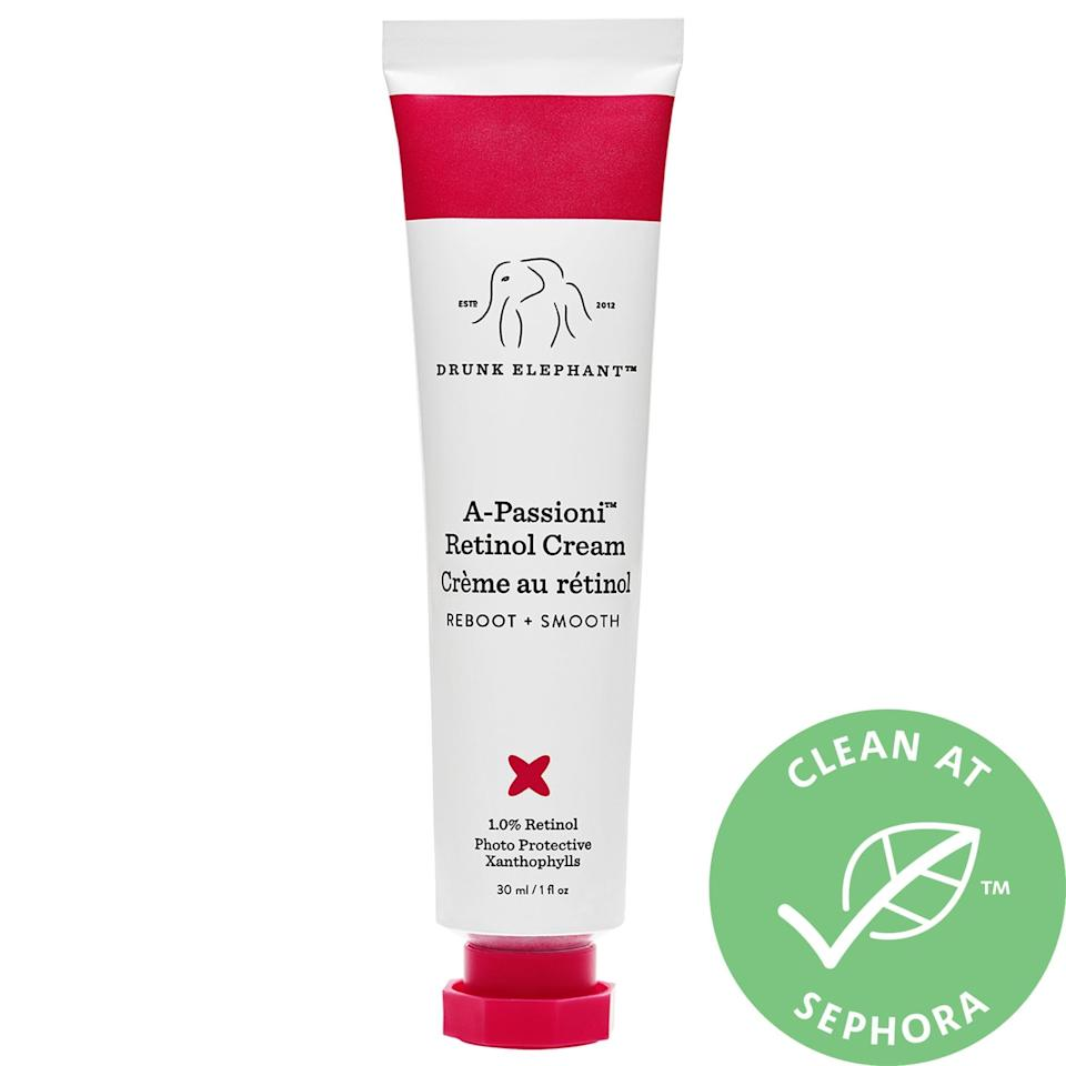 <p>The vegan retinol featured in this bestselling <span>Drunk Elephant A-Passioni Retinol Cream</span> ($28-$74) tackles your skin's negative reactions to long, lazy days outdoors. In addition to fighting any visible signs of sun damage, it also diminishes the look of fine lines and uneven tone over time, too.</p>