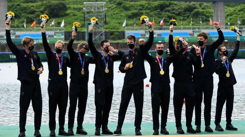 Rowing - Men's Eight - Medal Ceremony