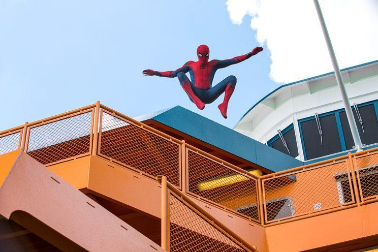Spider-Man jumps from a ferry in an exclusive new 'Homecoming' image (Photo: Columbia Pictures)