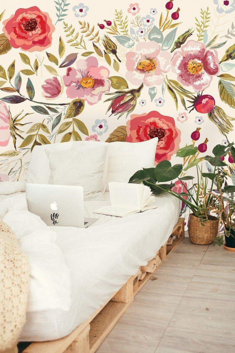 """<strong><a href=""""https://fave.co/2R4FQVW"""" target=""""_blank"""" rel=""""noopener noreferrer"""">Shop wallpaper from uniqWatercolorStiq starting at $14 on Etsy</a></strong>"""