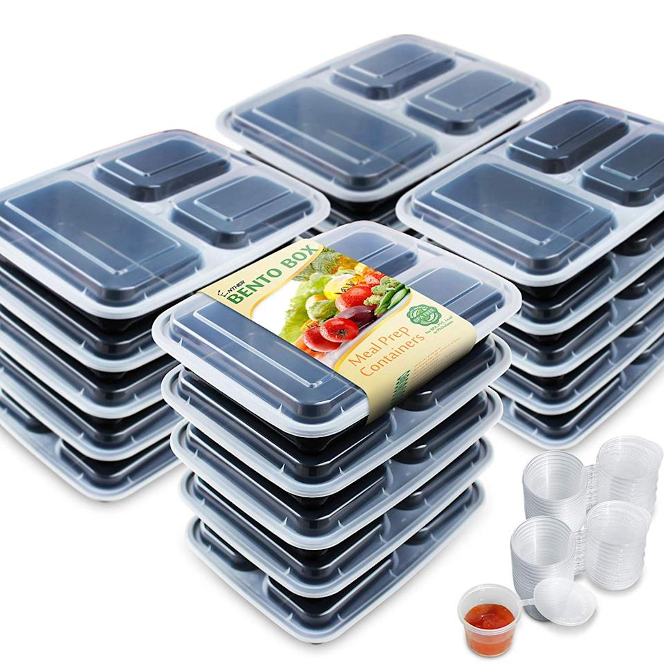 Enther Meal Prep Containers, 20 pack. (Photo: Amazon)
