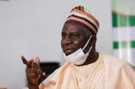 Kaduna state education commissioner Shehu Usman Muhammad speaks during an interview with Reuters in Kaduna