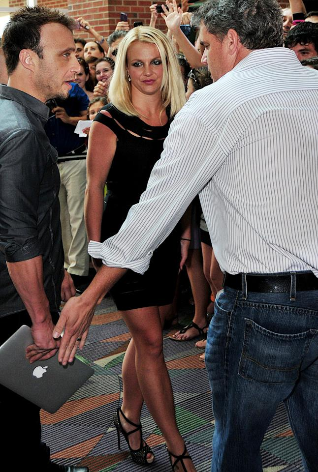 """Simon Cowell wants Britney Spears """"to slim Brit down"""" for the """"X Factor"""" premiere, reveals Star, which notes he's put her on his """"crazy diet"""" of smoothies filled with """"exotic ingredients flown to his home every week."""" Cowell also has Spears do """"weekly infusions of magnesium and vitamins,"""" says the mag. For the wildest part of Spears' diet, log on to <a target=""""_blank"""" href=""""http://www.gossipcop.com/britney-spears-diet-x-factor-simon-cowell-dieting-weight-loss/"""">Gossip Cop</a>."""