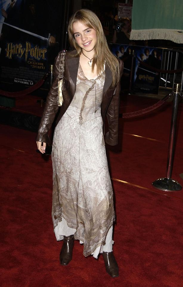 <p>She's utterly bewitching at the premiere of <em>Harry Potter and the Chamber of Secrets</em> on November 14, 2002, in Westwood, Calif. (Photo: Getty Images) </p>