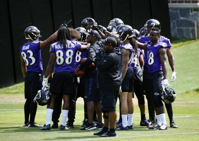 The Baltimore Ravens are embracing the idea of women in the coaching staff and analytics room. (AP)