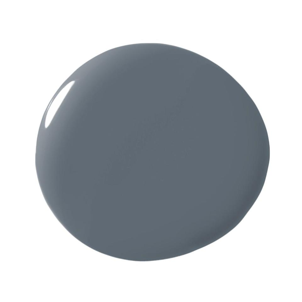 """<p>""""I love my blues to have a lot of gray in them which makes them more palatable and pleasant to the eye. This moody blue is a favorite of mine for built-in cabinetry in an office or laundry room.  It pairs well with brass accents so bring on the decadence in your cabinet hardware, library lights, or mesh panel inserts on your doors. It's a chameleon of a color as it works well with deep, saturated hues or soft, subtle neutrals."""" -<strong><a rel=""""nofollow"""" href=""""https://www.google.com/url?sa=t&rct=j&q=&esrc=s&source=web&cd=1&ved=0ahUKEwif8-jSjtvZAhWhct8KHZmxDHEQFggqMAA&url=http%3A%2F%2Fwww.dmondiinteriordesign.com%2F&usg=AOvVaw1prLlA3gXnVw8pJHcrcpPO"""">Donna Mondi</a></strong></p>"""