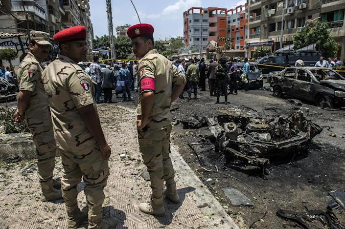 The June 2015 car bombing that killed Egypt's top prosecutor was one of a spate of attacks on the judiciary that followed a jihadist call to avenge a sweeping crackdown on Islamists (AFP Photo/KHALED DESOUKI)