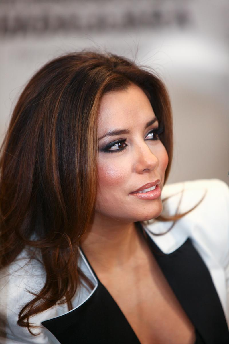 Eva Longoria attends a news conference at the Guadalajara International Film festival in Guadalajara, Mexico, Saturday March 26, 2011. (AP Photo/Bernardo De Niz)