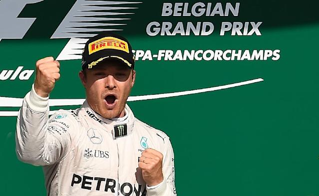 Nico Rosberg won the Belgian Grand Prix at the Spa-Francorchamps circuit in Spa on August 28, 2016 (AFP Photo/John Thys)