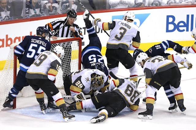 The Golden Knights equalized the Western Conference Final at 1-1 with a 3-1 win over the Winnipeg Jets in game two (AFP Photo/Jason Halstead)
