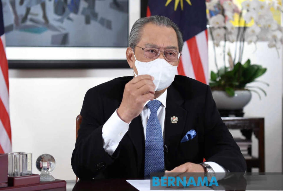 The prime minister said Malaysians must be mindful of sustaining the environment in all their social and economic ventures while fighting against the Covid-19 pandemic. — Picture from Twitter/bernamadotcom