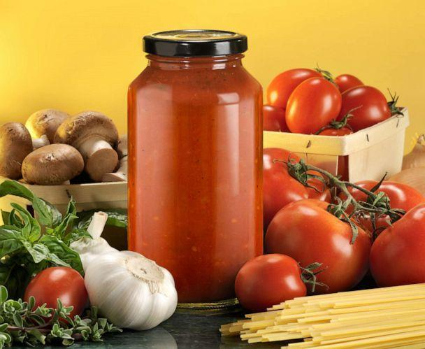 PHOTO: A jar of pasta sauce and ingredients are depicted in an undated stock photo. (STOCK PHOTO/Getty Images)