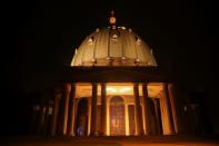 The Basilica Notre Dame is pictured during the celebration of Christmas in Yamoussoukro