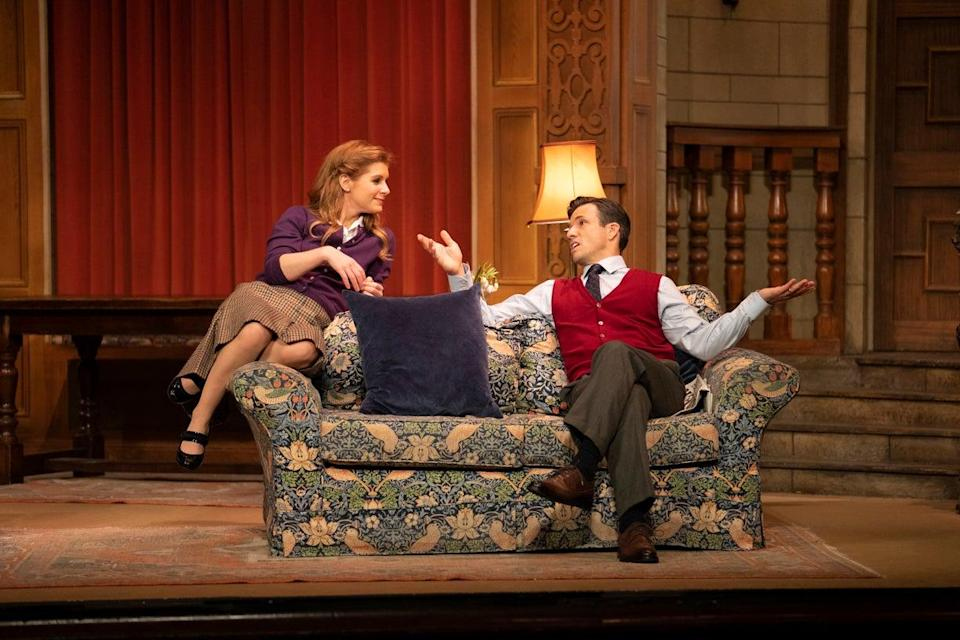 <p>Cassidy Janson and Danny Mac in the newly re-opened production of The Mousetrap</p> (Tristram Kenton)
