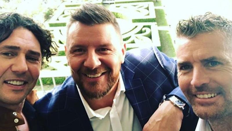 A photo of Colin Fassnidge, Pete Evans and Manu Feildel.