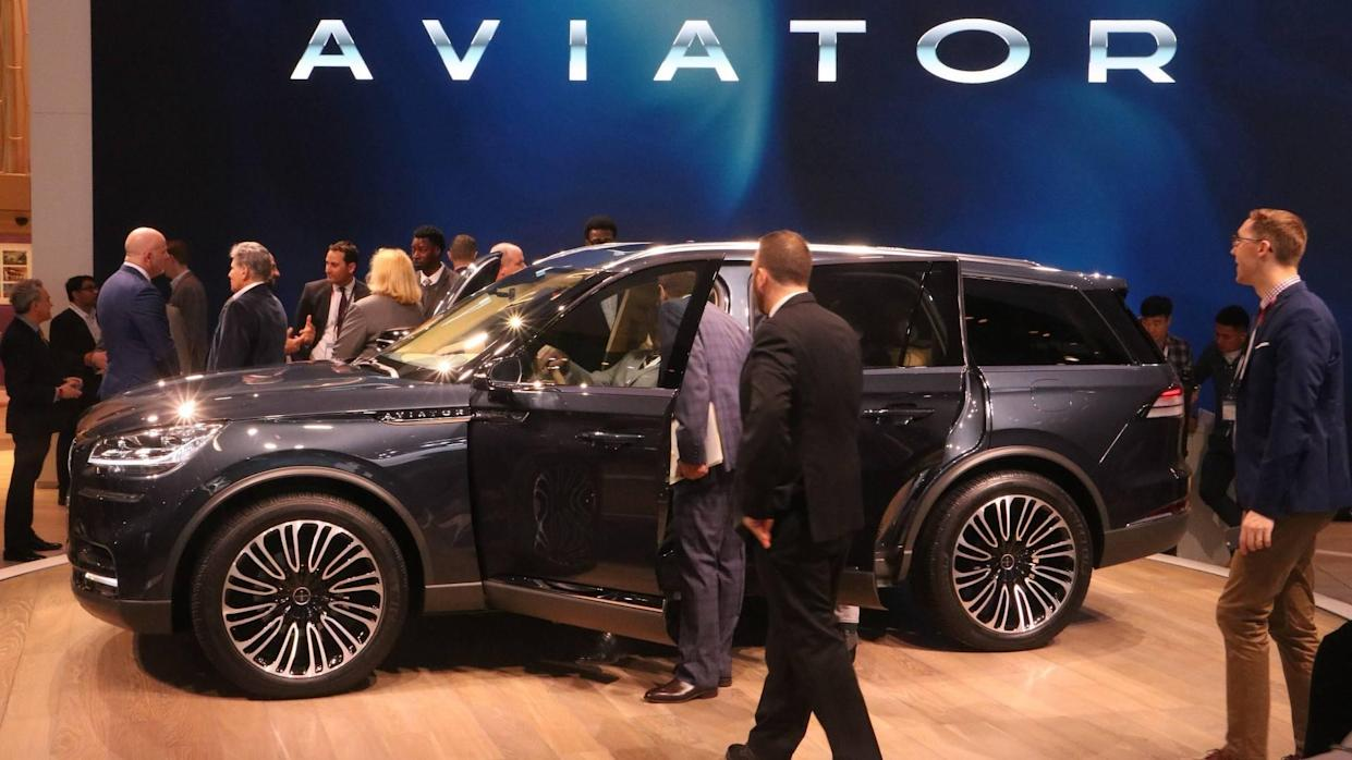 Lincoln Aviator concept at the 2018 New York Auto Show