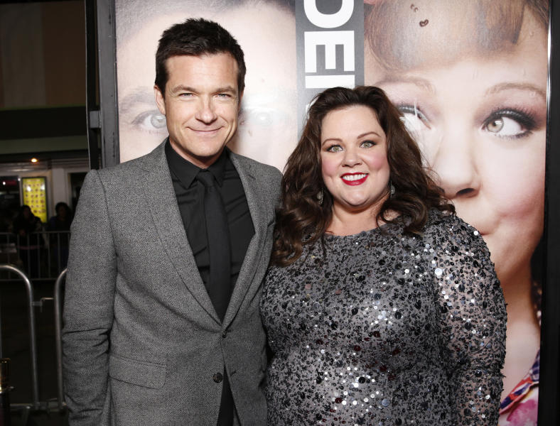"Jason Bateman and Melissa McCarthy attend the world premiere of ""Identity Thief"" at the Mann Village Westwood, Monday, Feb. 4, 2013, in Los Angeles. (Photo by Todd Williamson/Invision/AP Images)"