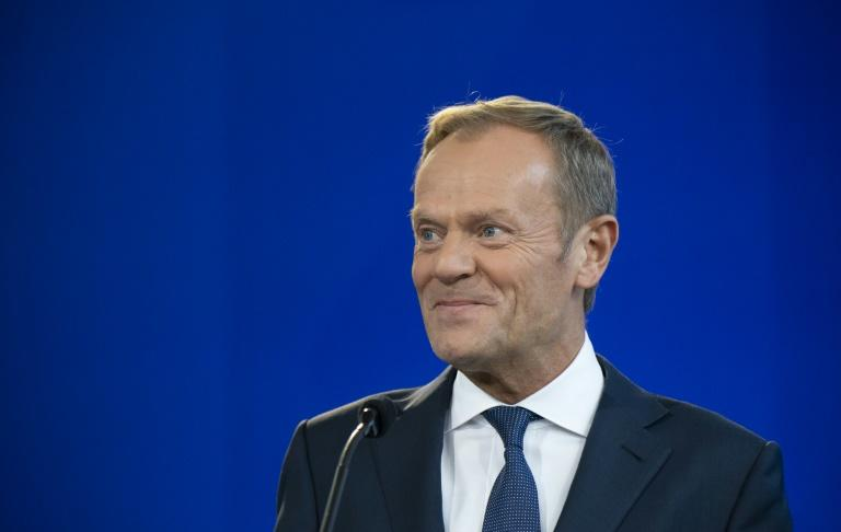 The President of the European Council Donald Tusk said Tuesday the EU would not concede to Johnson by scrapping the Irish backstop plan (AFP Photo/Sebastien St-Jean)