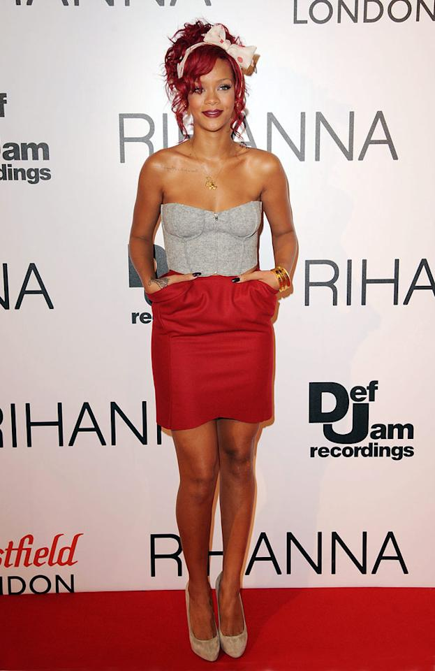 "Is anyone else as tired of Rihanna's ragged red coif as we are? Eamonn McCormack/<a href=""http://www.wireimage.com"" target=""new"">WireImage.com</a> - November 4, 2010"