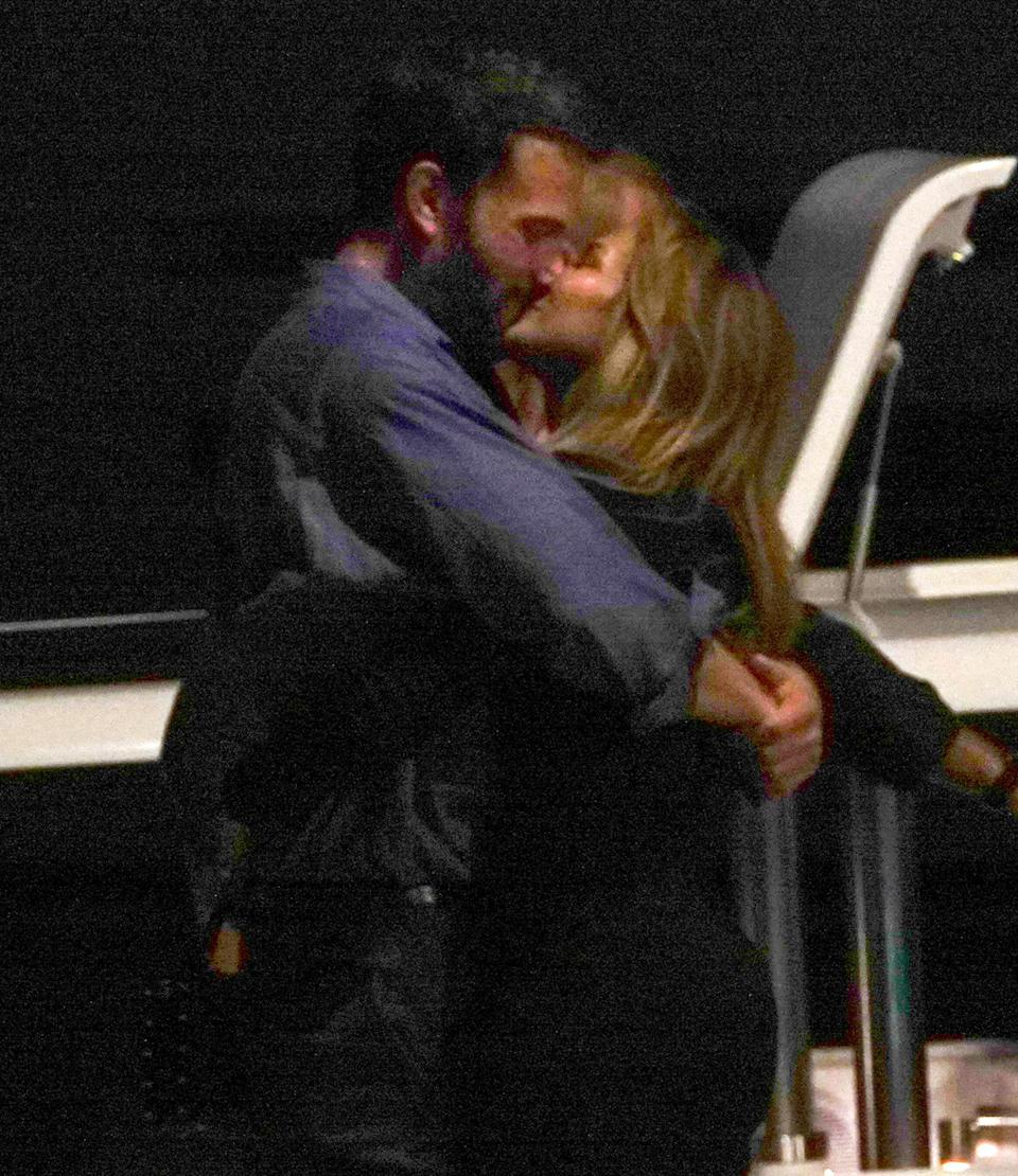 """<p>The pair shared another sweet kiss while in St. Tropez. </p> <p>In May of this year, a source told PEOPLE that the stars' relationship <a href=""""https://people.com/movies/jennifer-lopez-ben-affleck-have-grown-since-dating-different-place-exclusive/"""" rel=""""nofollow noopener"""" target=""""_blank"""" data-ylk=""""slk:is different this time around"""" class=""""link rapid-noclick-resp"""">is different this time around</a>. """"Time has passed, and they are each in a different place with children,"""" the insider shared.</p>"""