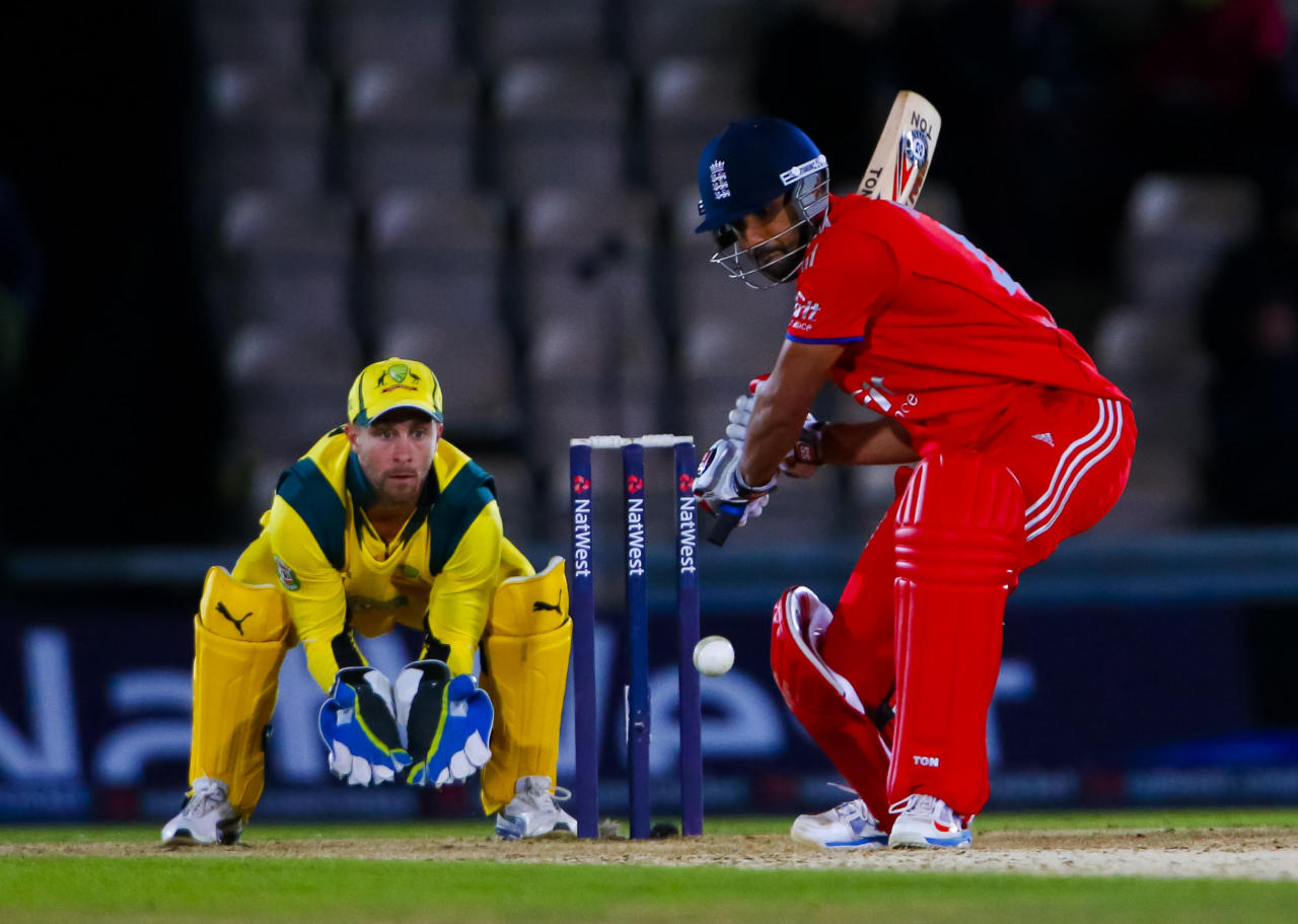 England's Ravi Bopara in action during the Fifth One Day International at the Ageas Bowl, Southampton.