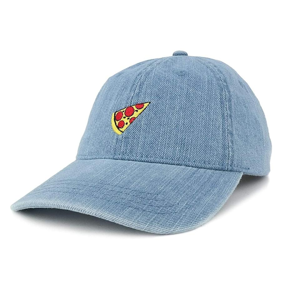 <p>They can declare their love for the 'za with this <span>Pizza Embroidered Snapback Cap</span> ($20).</p>