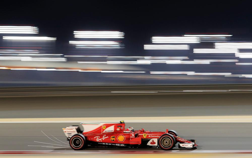 Kimi Raikkonen will be aiming to get his ninth podium at the Bahrain international Circuit - Credit: AP