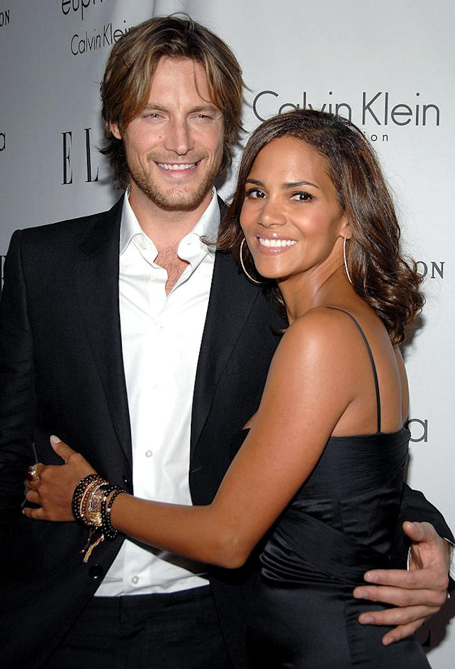 "Halle Berry and her main squeeze, model Gabriel Aubrey, make one good looking couple! John Shearer/<a href=""http://www.wireimage.com"" target=""new"">WireImage.com</a> - October 6, 2008"