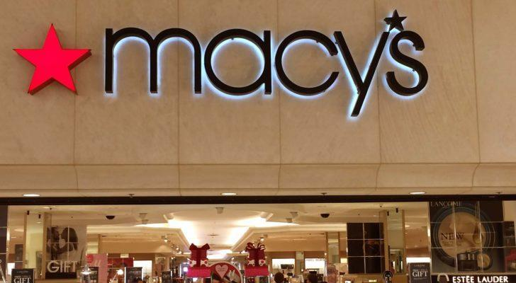macy's (M) mall department store storefront