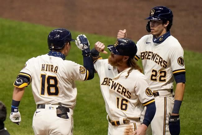 Hiura, Peterson HR, Brewers rally, end Tigers' 6-game streak