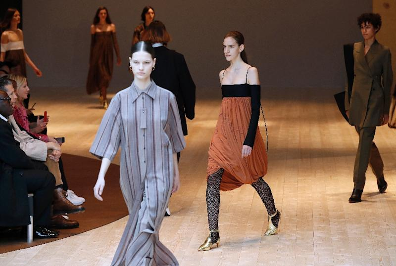 The Celine collection was a highlight of Sunday's shows