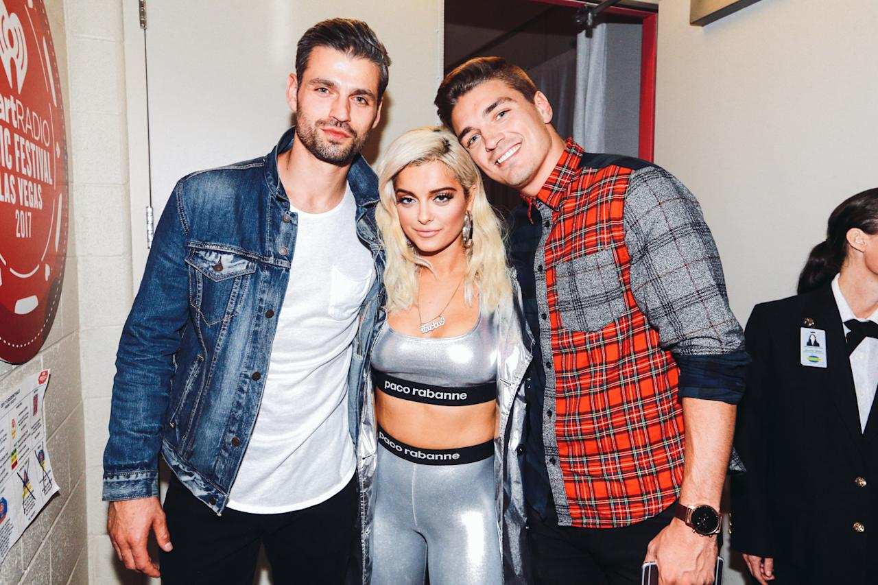 <p>LAS VEGAS, NV – SEPTEMBER 22: Bebe Rexha (C) attends the 2017 iHeartRadio Music Festival at T-Mobile Arena on September 22, 2017 in Las Vegas, Nevada. (Photo: Getty Images for iHeartRadio) </p>