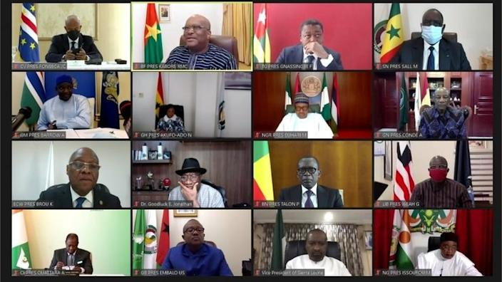West African leaders held emergency discussions about the situation in Mali by video