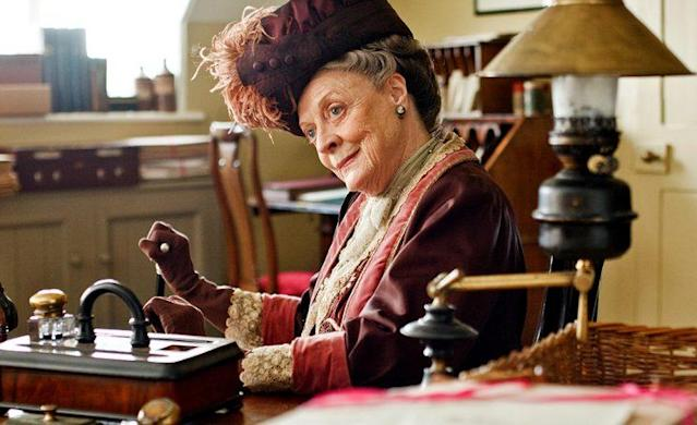 Maggie Smith as Dowager Countess in 'Downton Abbey' (Credit: Masterpiece/PBS)