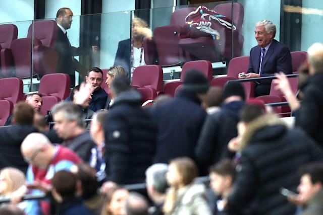 West Ham fans turned on the owners during the defeat to Burnley in March 2018 (Getty Images)