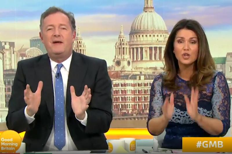 Had enough: Reid snapped at her co-host (Good Morning Britain)