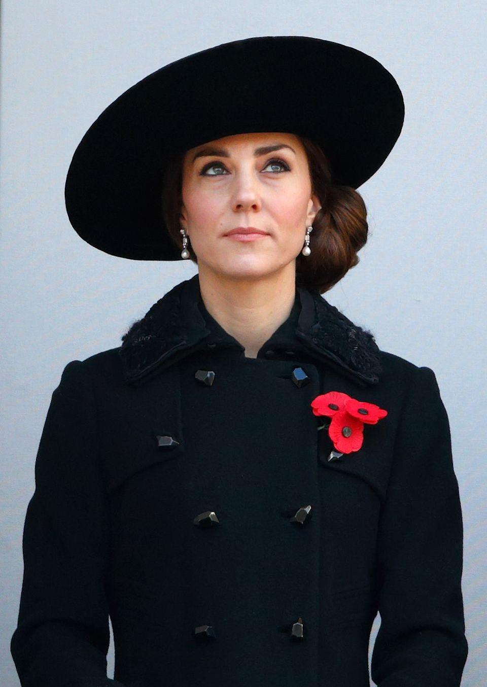 """<p>A classic black look will never go out of style, but the royals reserve it for evenings and funerals. The Queen made a rule that <a href=""""https://www.goodhousekeeping.com/life/a45377/the-royal-family-spare-black-outfit/"""" rel=""""nofollow noopener"""" target=""""_blank"""" data-ylk=""""slk:all members of the family must bring a black outfit"""" class=""""link rapid-noclick-resp"""">all members of the family must bring a black outfit</a> with them when traveling in case there is a sudden death while they're away.</p><p><strong>RELATED:</strong> <a href=""""https://www.goodhousekeeping.com/beauty/fashion/g24472567/royal-outfits-hidden-meanings/"""" rel=""""nofollow noopener"""" target=""""_blank"""" data-ylk=""""slk:The Secret Messages Behind Royal Clothing"""" class=""""link rapid-noclick-resp"""">The Secret Messages Behind Royal Clothing </a></p>"""