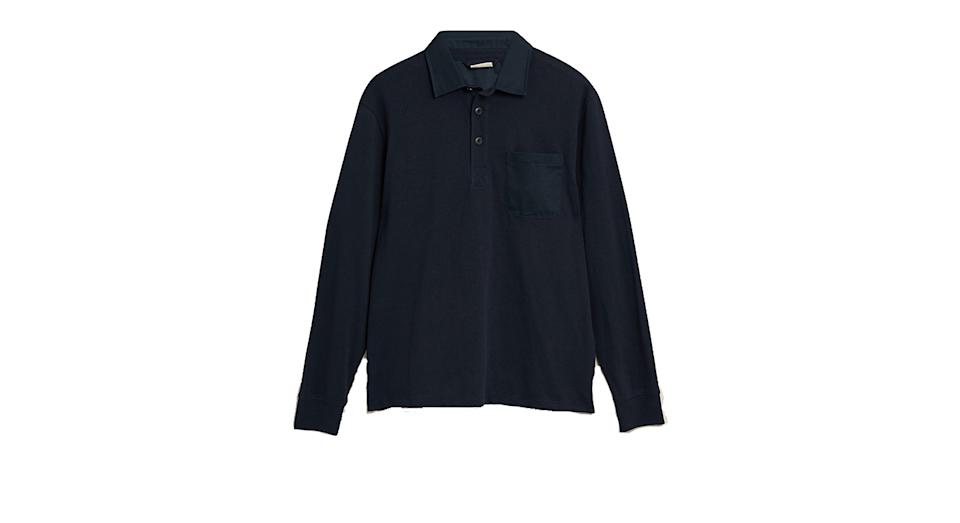 Pure Cotton Pocket Rugby Shirt