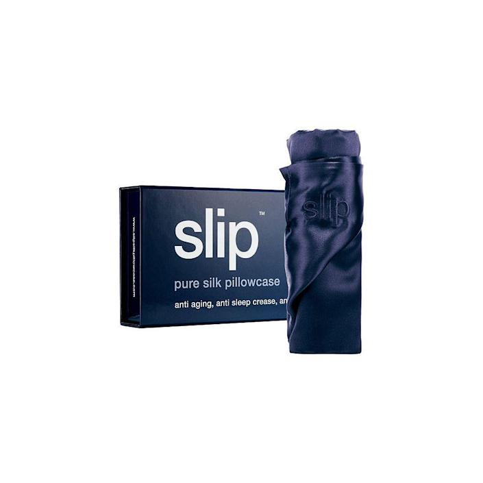 """<p><strong>Slip</strong></p><p>sephora.com</p><p><strong>$89.00</strong></p><p><a href=""""https://go.redirectingat.com?id=74968X1596630&url=https%3A%2F%2Fwww.sephora.com%2Fproduct%2Fsilk-pillowcase-standard-queen-P402944&sref=https%3A%2F%2Fwww.oprahdaily.com%2Flife%2Fg26787035%2Fgifts-for-new-moms%2F"""" rel=""""nofollow noopener"""" target=""""_blank"""" data-ylk=""""slk:Shop Now"""" class=""""link rapid-noclick-resp"""">Shop Now</a></p><p>If she's not getting much sleep, one of the nicest things you can do is ensure the few hours she has are as rejuvenating as possible. This pillowcase, made of the highest grade mulberry silk, allows skin and hair to glide across the surface, <a href=""""https://www.oprahmag.com/beauty/hair/g26454282/satin-hair-bonnets/"""" rel=""""nofollow noopener"""" target=""""_blank"""" data-ylk=""""slk:preserving hairstyles"""" class=""""link rapid-noclick-resp"""">preserving hairstyles</a> and protecting the delicate facial skin. </p>"""