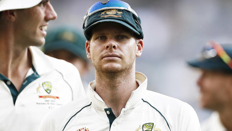 Steve Smith, pictured here during the first Test against New Zealand.