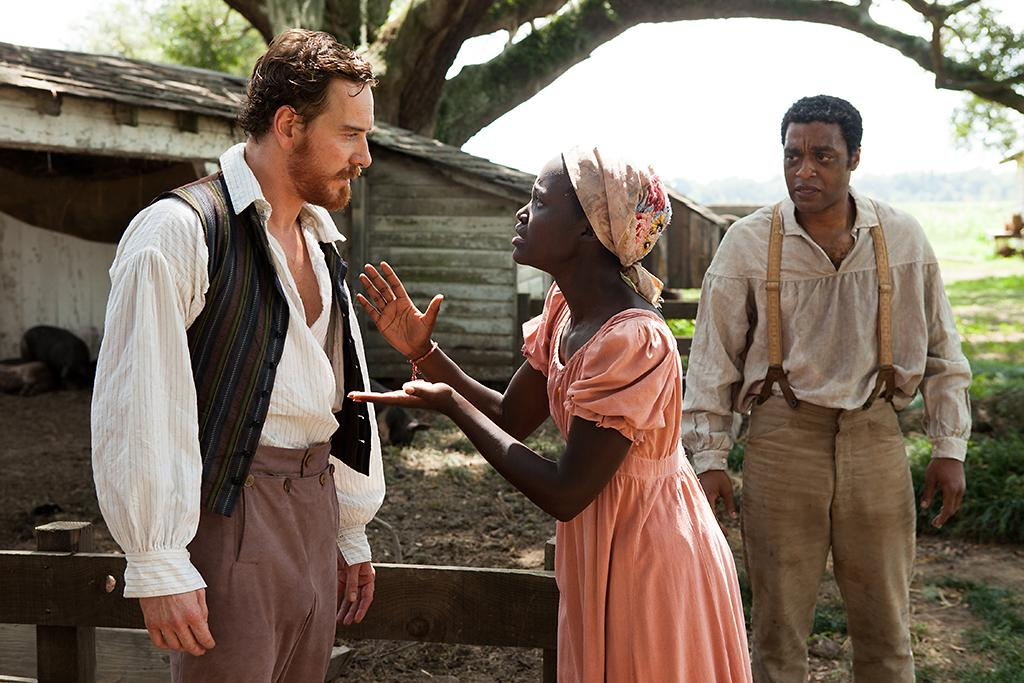 "Michael Fassbender, Lupita Nyong'o as and Chiwetel Ejiofor in Fox Searchlight's ""12 Years A Slave"" - 2013"