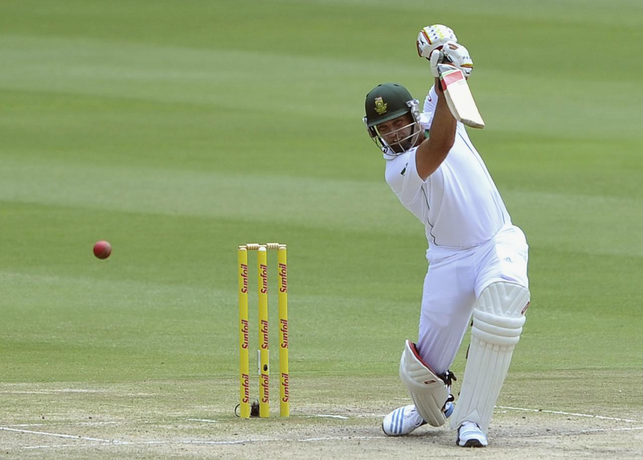 South Africa's Jacques Kallis plays a shot during the final day of their cricket test match against India in Johannesburg, December 22, 2013. 