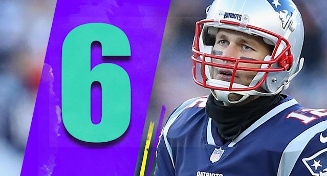 <p>Maybe Tom Brady's knee is hurting more than he'll say. After posting a 48.3 passer rating on Sunday, a week off in January might be a great thing for the Patriots and Brady. (Tom Brady) </p>
