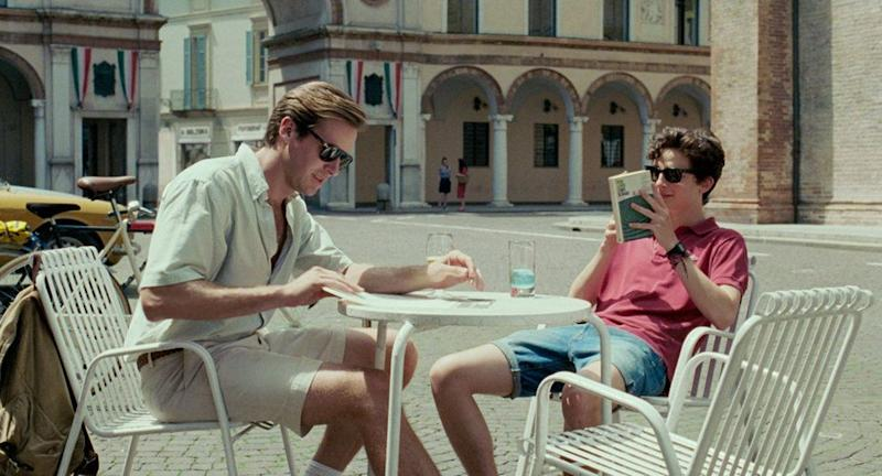 """Armie Hammer andTimothée Chalamet in """"Call Me By Your Name."""""""