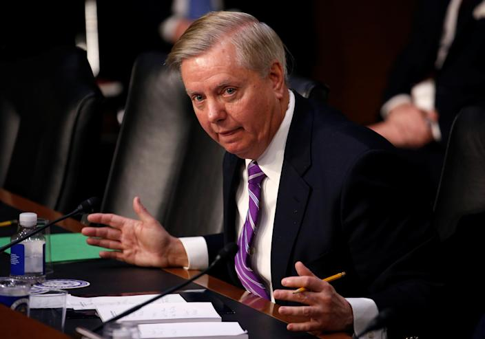 Sen. Lindsey Graham, R-S.C., questions Homeland Security Secretary Kirstjen Nielsen during a hearing with the Senate Judiciary Committee on Capitol Hill on Jan. 16, 2018. (Photo: Joshua Roberts/Reuters)