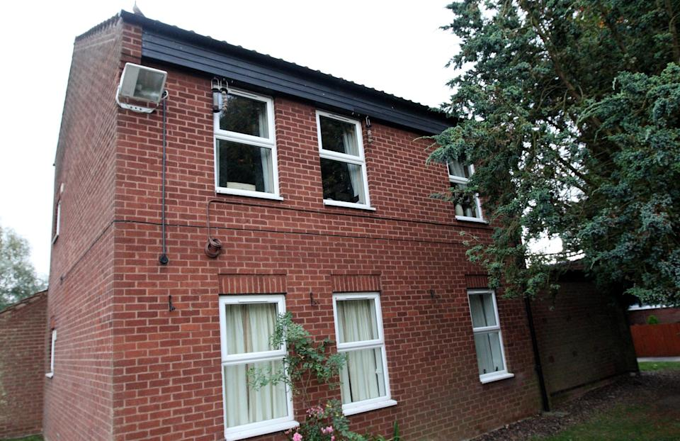 The current home (top floor flat) of Dave and Angela Dawes from Wisbech, Cambridgeshire, who won the UK's third biggest lottery prize - more than £101 million.