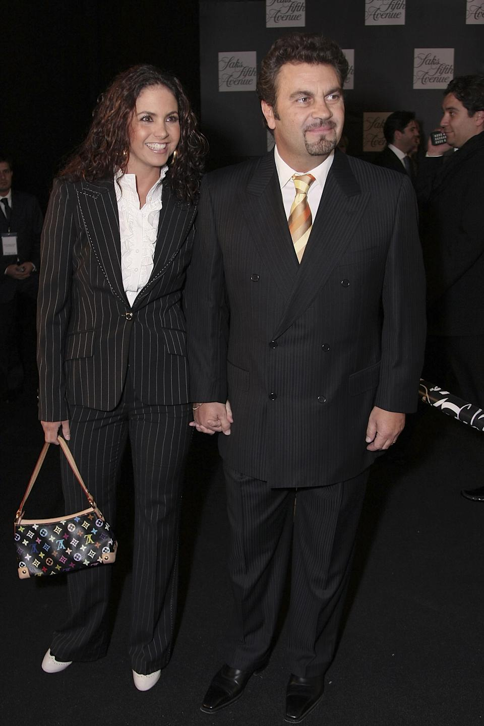 MEXICO CITY - NOVEMBER 27:  Singer Lucero and singer Mijares attend the opening of Saks Fifth Avenue Store November 27, 2007 in the Santa Fe district of Mexico City, Mexico.  (Photo by Victor Chavez/WireImage)