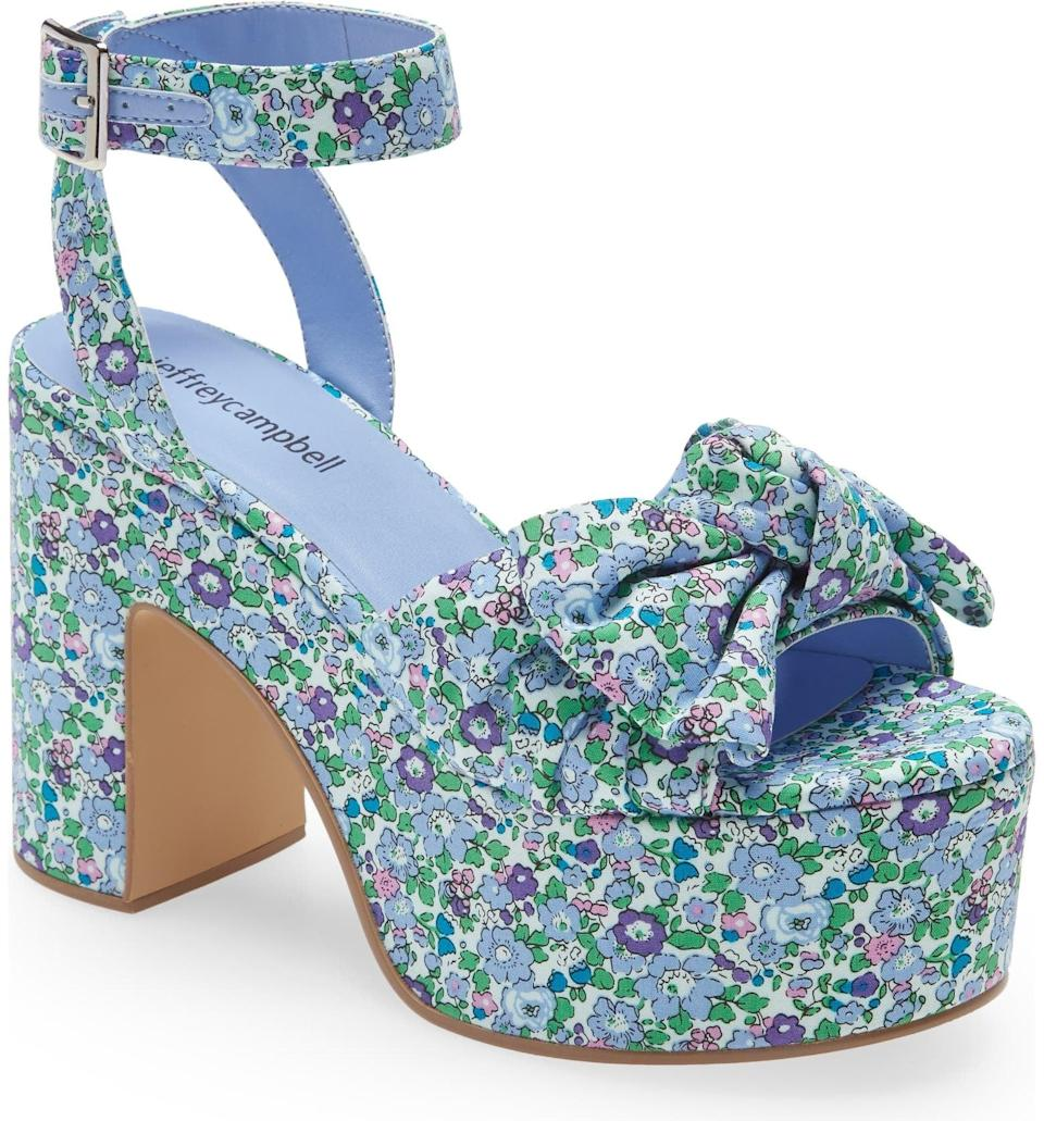 <p>This embellished <span>Jeffrey Campbell Picnic Platform Sandal</span> ($150) are the floral styles fashion-lovers are obsessed with this spring. Add a pep in your step in these retro platform sandals that look extremely stylish and feminine.</p>