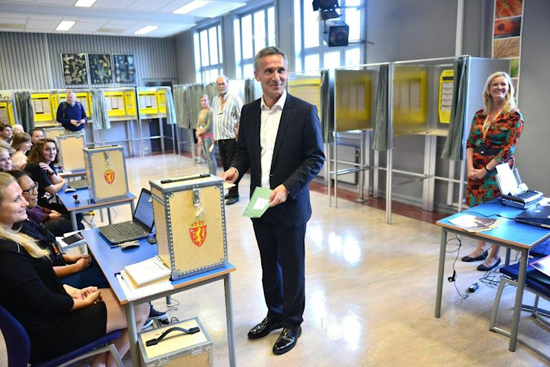 Norway's Prime Minister Jens Stoltenberg casts his ballot in the parliamentary election at a polling station in Oslo, Sunday, Sept. 8, 2013. (AP Photo/Fredrik Varfjell, NTB Scanpix) NORWAY OUT ( Photo by Fredrik Varfjell, NTB scanpix
